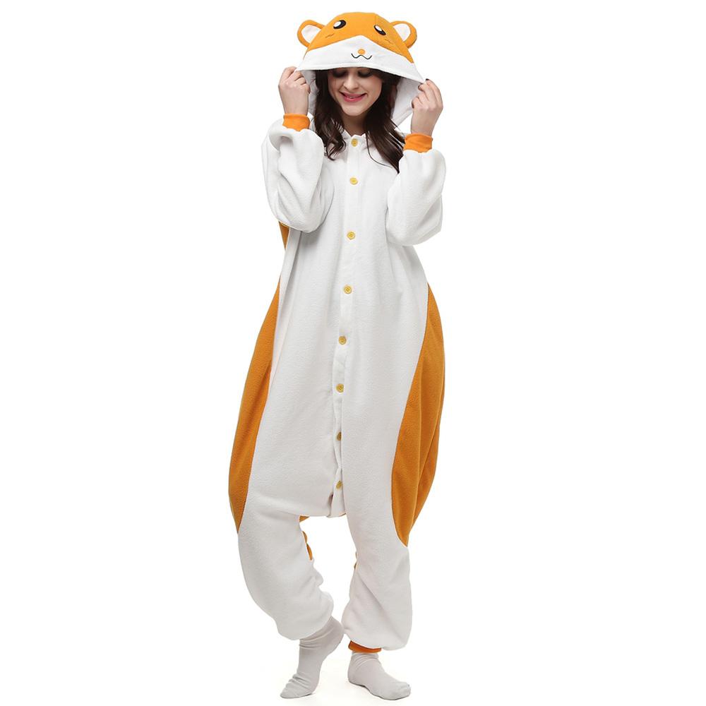 Hamtaro Kigurumi Kostüme Unisex Vlies Pyjama Gymnastikanzug/Einteiler