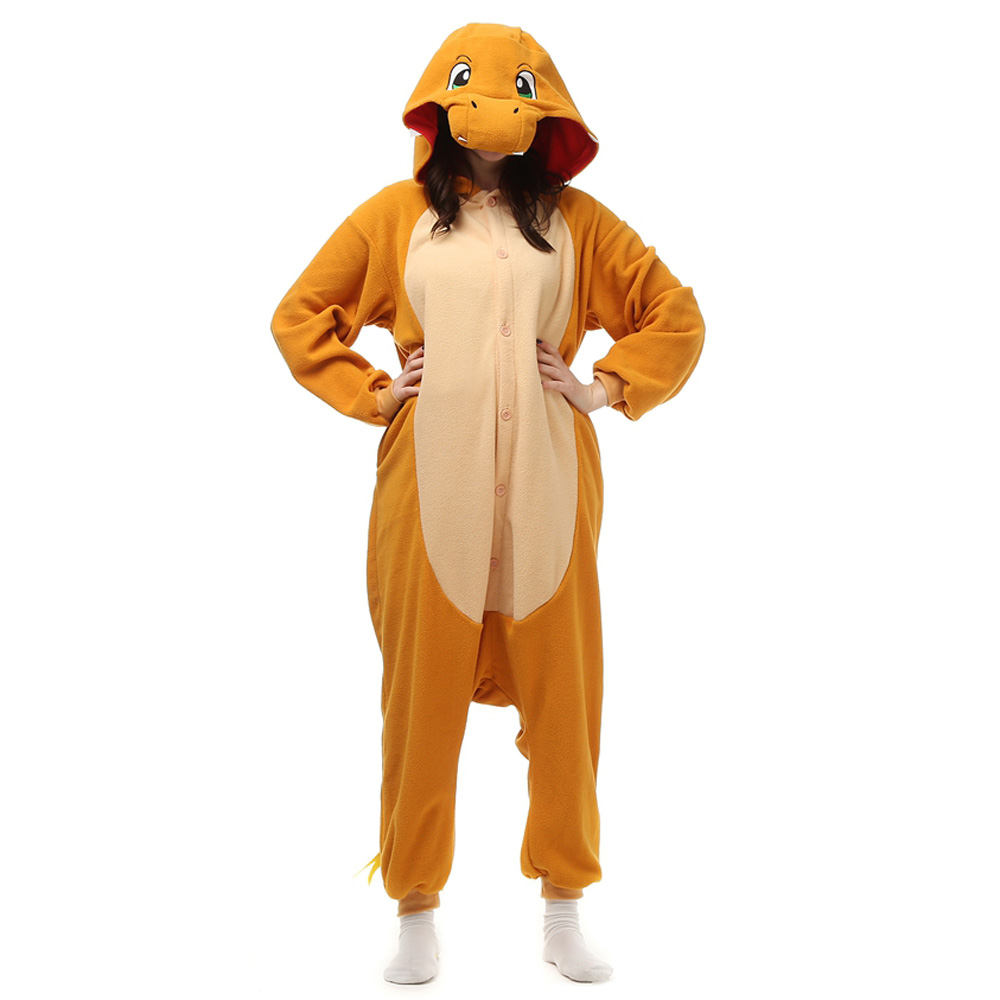 Fire Dragon Kigurumi Costume Unisex Fleece Pajamas Onesie