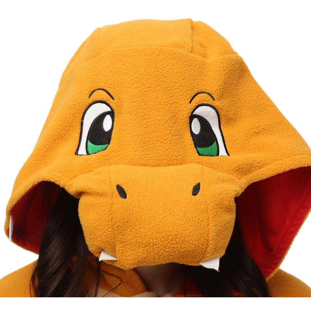 Fire Dragon Kigurumi Kostuum Unisex Vlies Pyjama Onesie