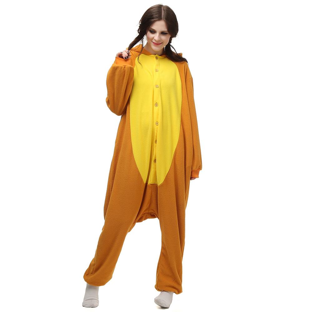Wortel Kigurumi Kostuum Unisex Vlies Pyjama Onesie