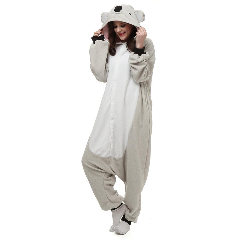 Koala Kigurumi Kostuum Unisex Vlies Pyjama Onesie