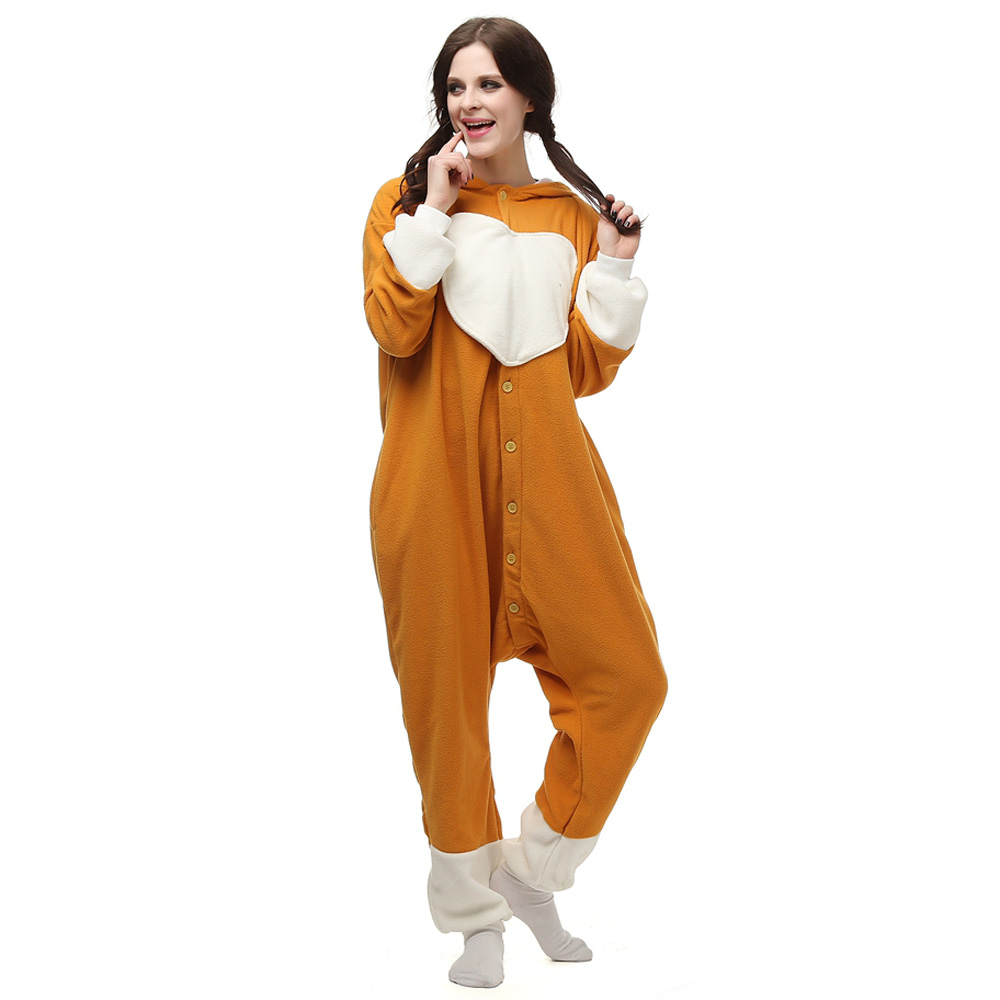 Big Eye Dog Kigurumi Costume Unisex Fleece Pajamas Onesie