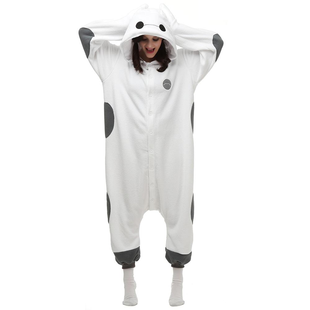 Baymax Kigurumi Kostüme Unisex Vlies Pyjama Gymnastikanzug/Einteiler