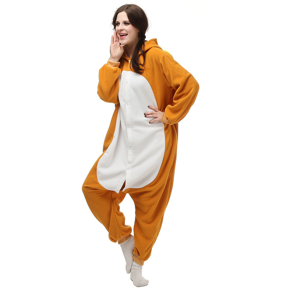 Rilakkuma Kigurumi Kostuum Unisex Vlies Pyjama Onesie