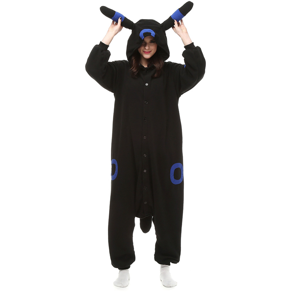 Umbreon Kigurumi Kostyme Polar Fleece Pyjamas Onesie Dyremotiv Tegnefilm