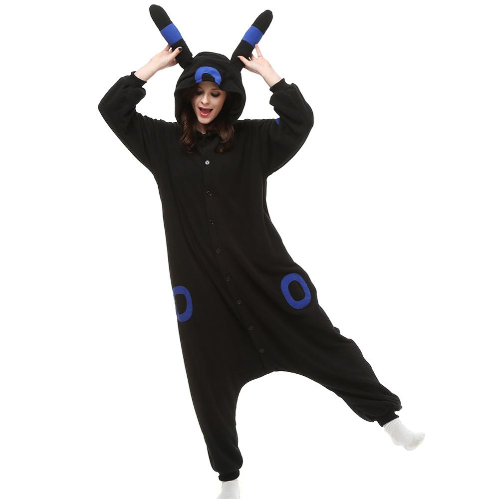 Umbreon Kigurumi Costume Unisex Fleece Pajamas Onesie