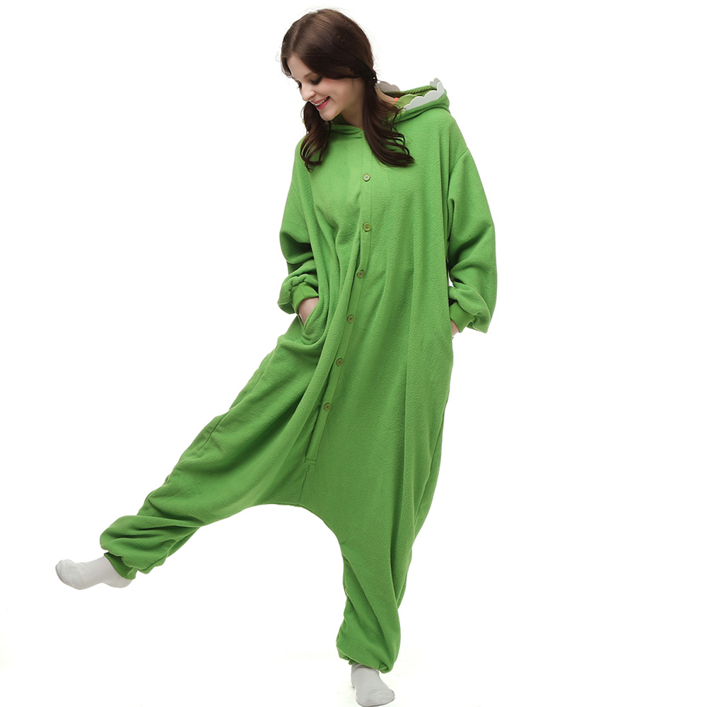 Mike Wazowski Kigurumi Kostuum Unisex Vlies Pyjama Onesie