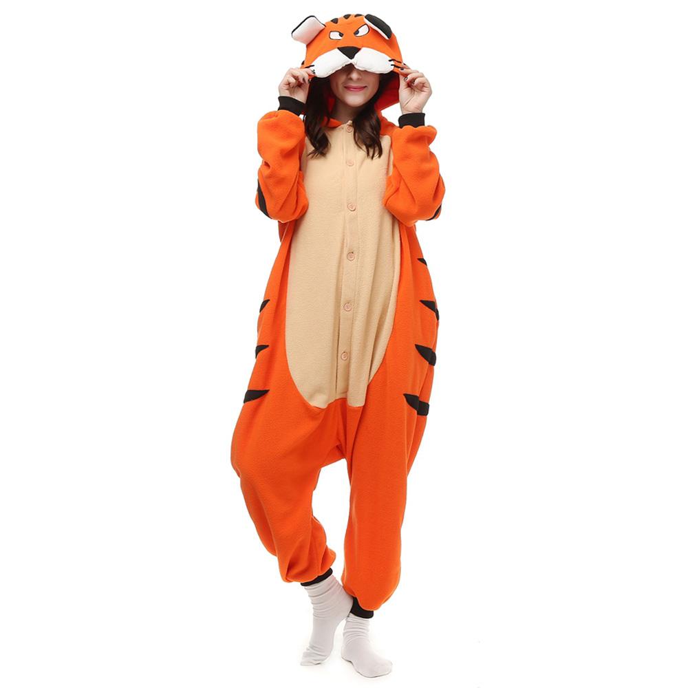 Tigger Kigurumi Costume Unisex Fleece Pajamas Onesie