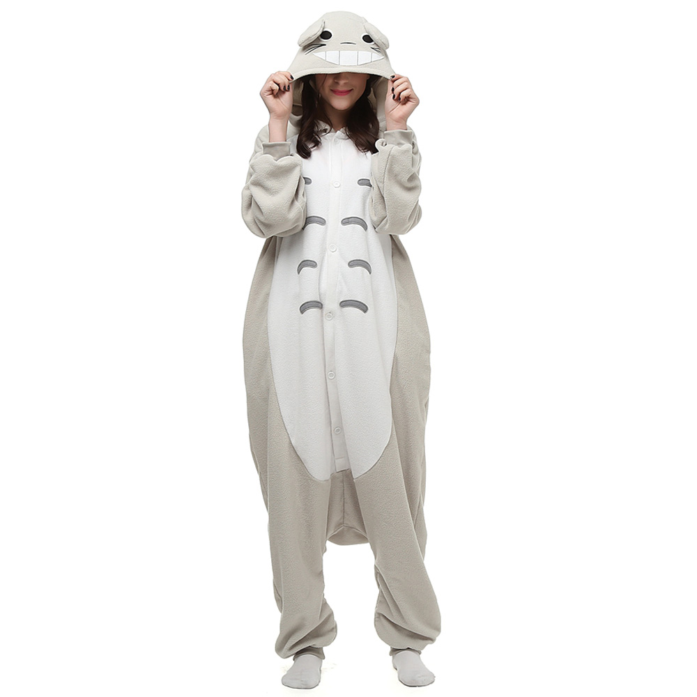 Min granne Totoro Kigurumi Kostym Polär Ull Pyjamas Onesie Halloween Festival