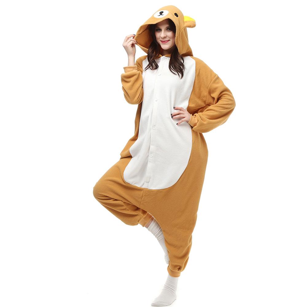 Rilakkuma Kigurumi Kostüme Unisex Vlies Pyjama Gymnastikanzug/Einteiler