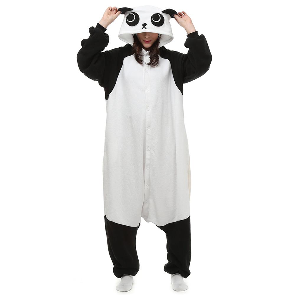 Panda Kigurumi Kostyme Polar Fleece Pyjamas Onesie Dyremotiv Tegnefilm