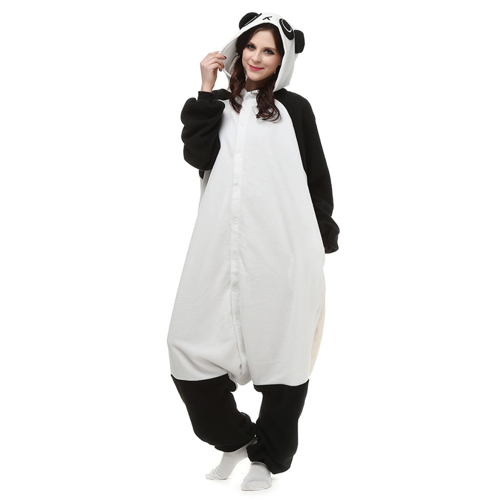 Reuzenpanda Kigurumi Kostuum Unisex Vlies Pyjama Onesie