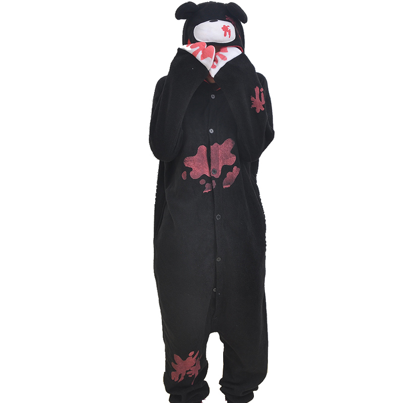 Adult Pajamas Animal Black Gloomy Polar Flleece Kigurumi Pajamas