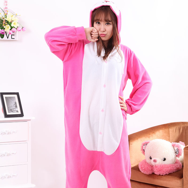 Adult Pajamas Animal Rabbit Polar Flleece Kigurumi Pajamas