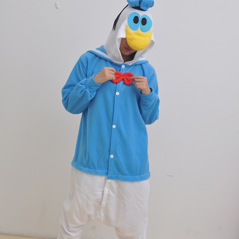 New Stlay Adult Pajamas Animal Donald Duck Polar Flleece Kigurumi Pajamas