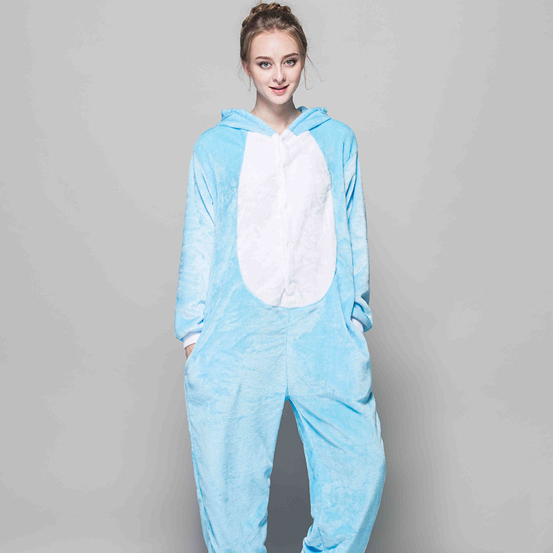 Adult Pajamas Animal Cheese Cat Flannel Kigurumi Pajamas