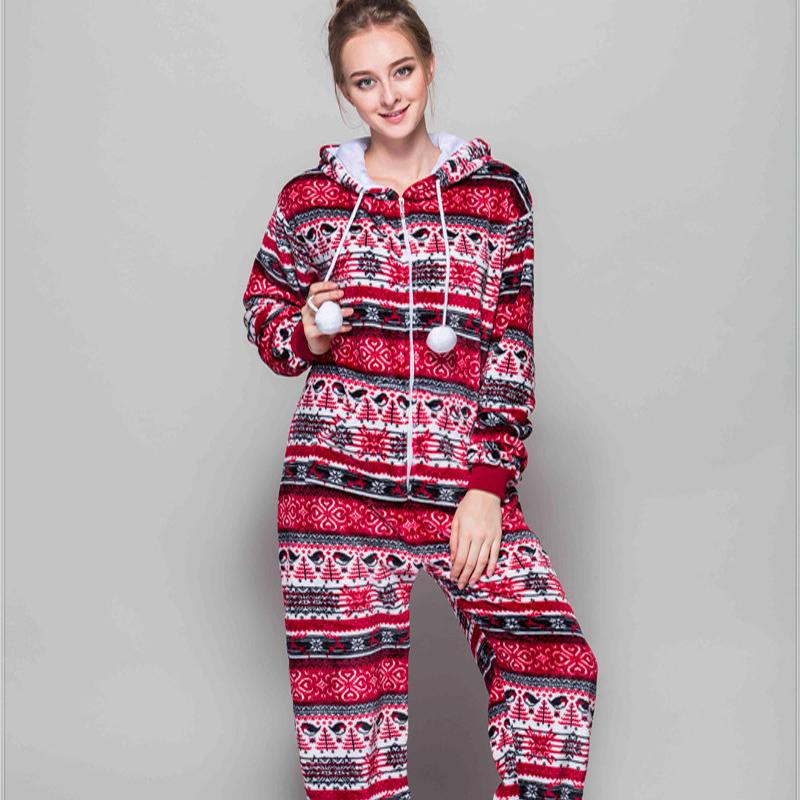 Adult Pajamas Animal Red Bird Flannel Kigurumi Pajamas