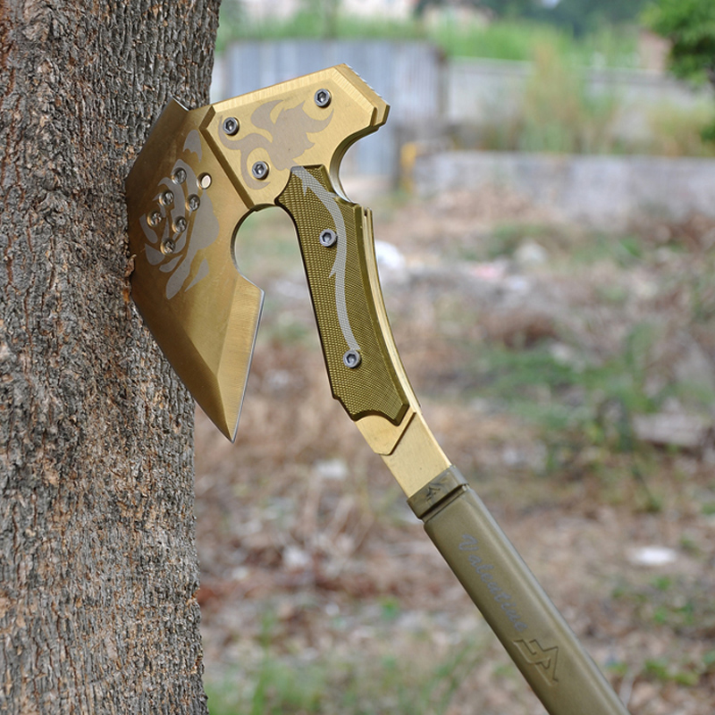 The Fourth Generation CF Gold Rose Tomahawk Camping Ax Hiking Survival Hand Tool