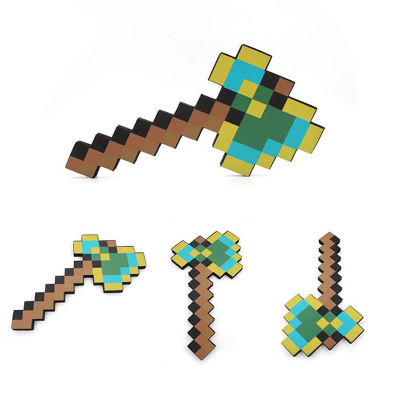 Foam Toys Multicolour Minecraft Axe Sword Pickaxe EVA Action Figures Toys Gifts for Kids Outdoor Fun