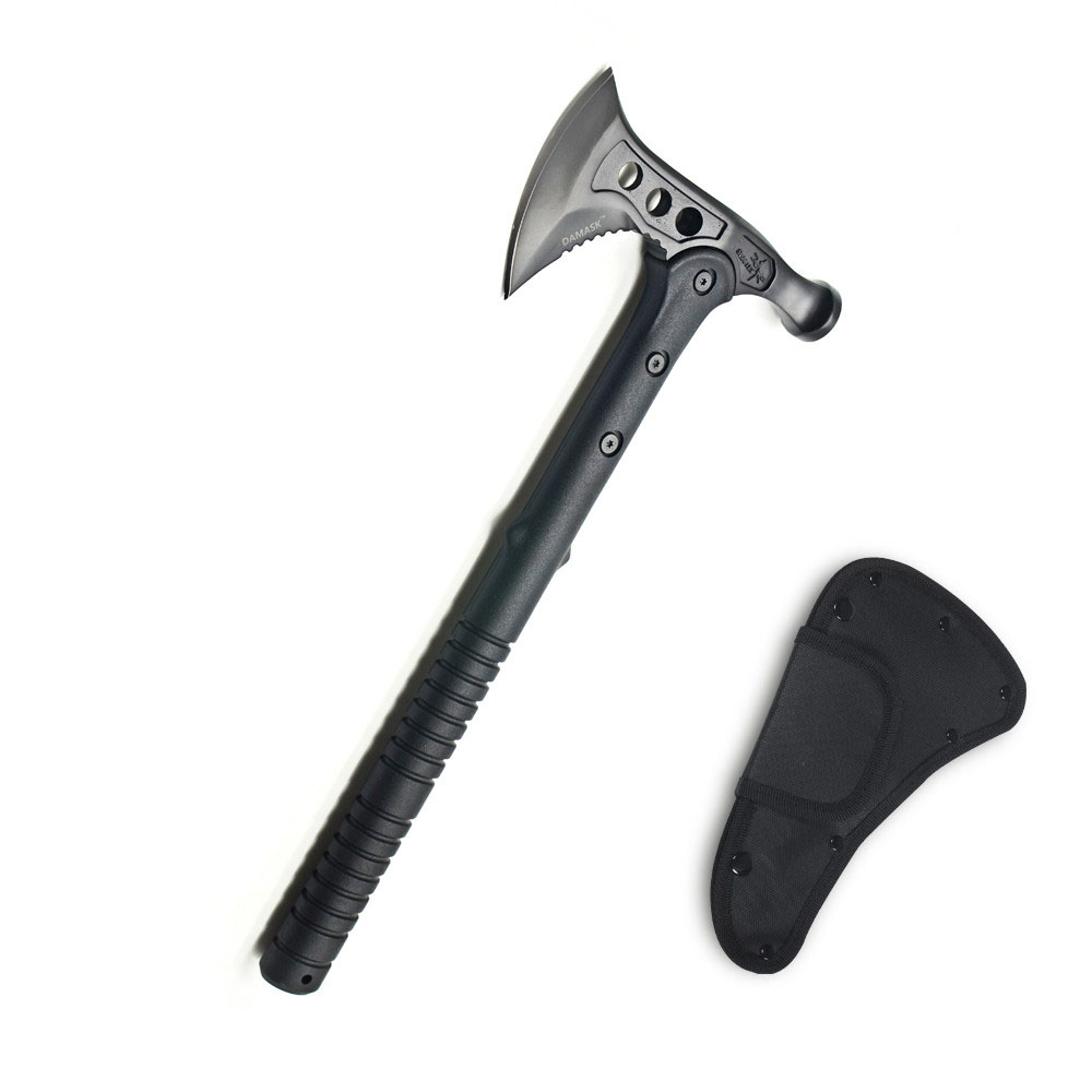 Long Handle Hammer Style Fire Ice Rescue Tactical Axe Tomahawk Outdoor