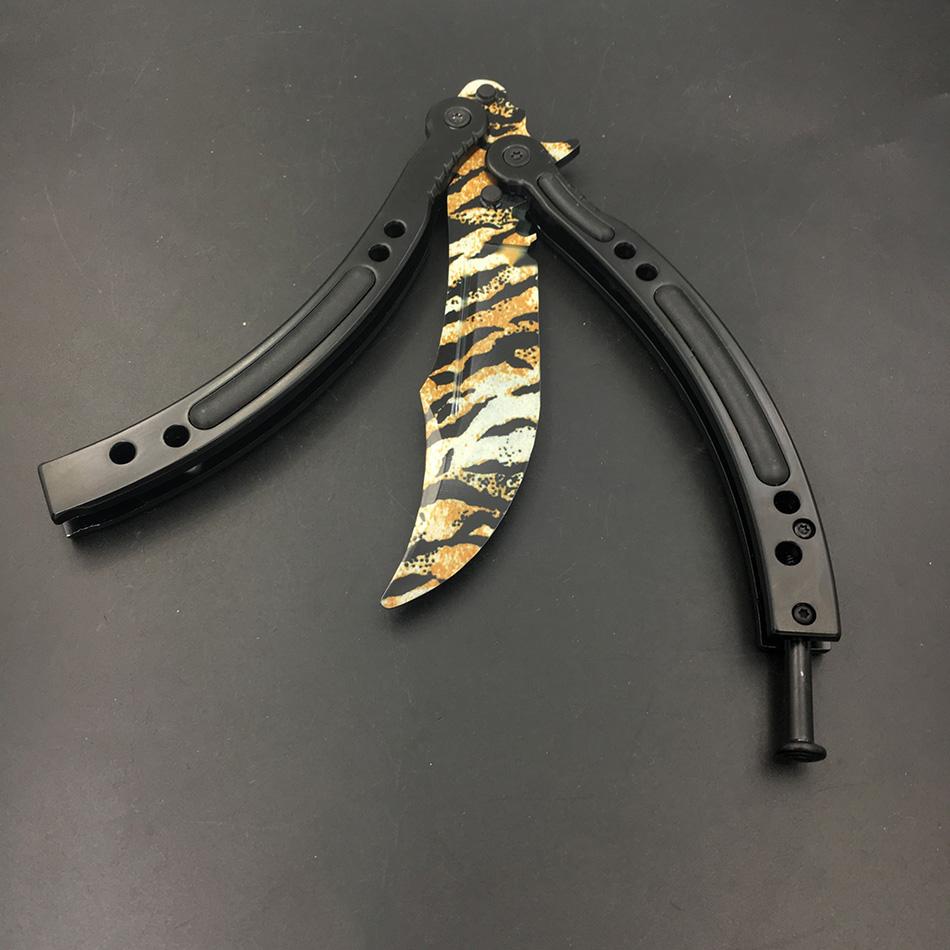 Butterfly Knife Training Stainless Seel CS GO Knife Counter