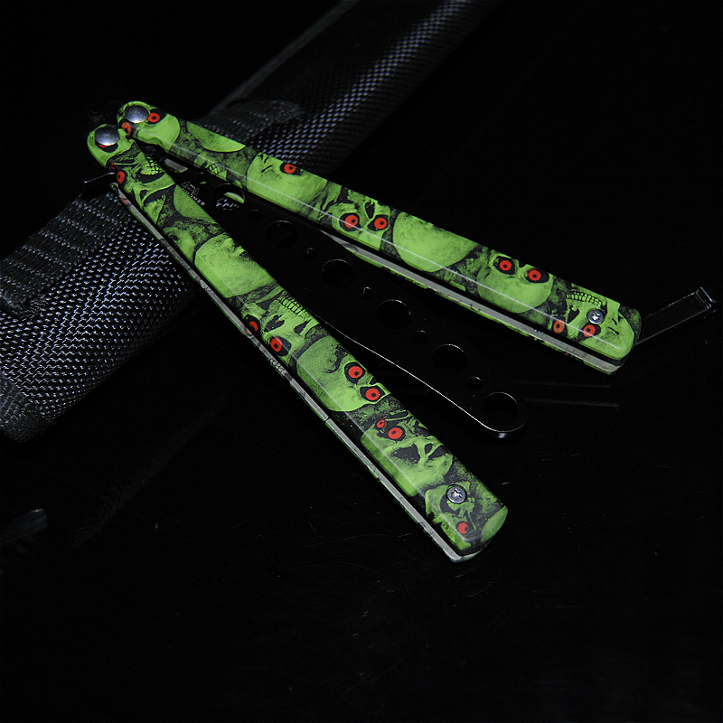 CS Latest Butterfly Training Stainless Steel Folding Knife Collection Gift