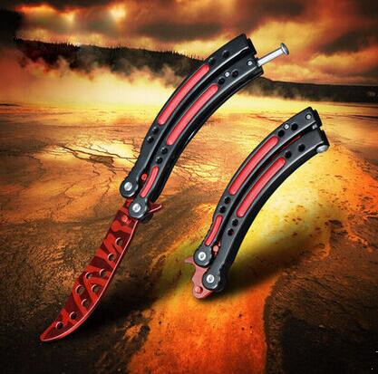 CS GO Game Collection Balisong Butterfly Trainer Knife Men Gift