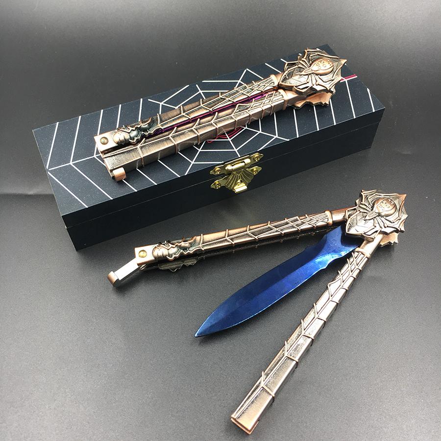 Stainless Steel Butterfly in Knife Training Knife Blade Karambit Folding Knife