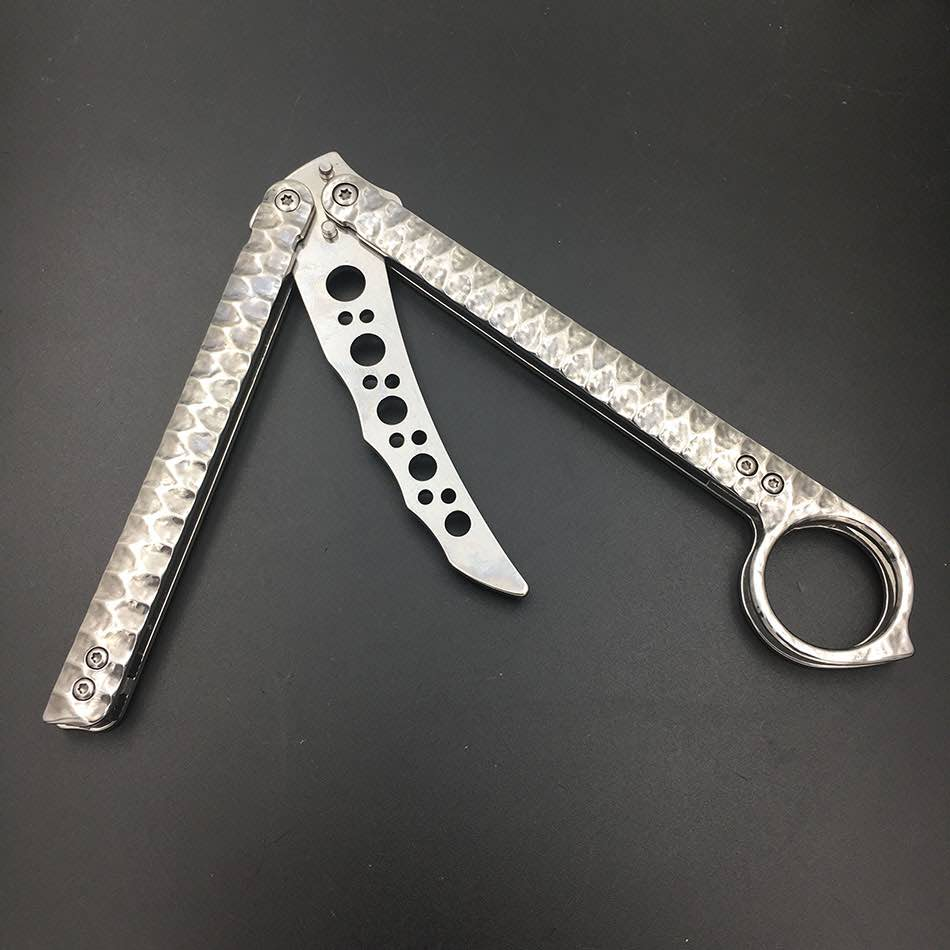 Stainless Steel Balisong Knife Butterfly Practice Training Knife