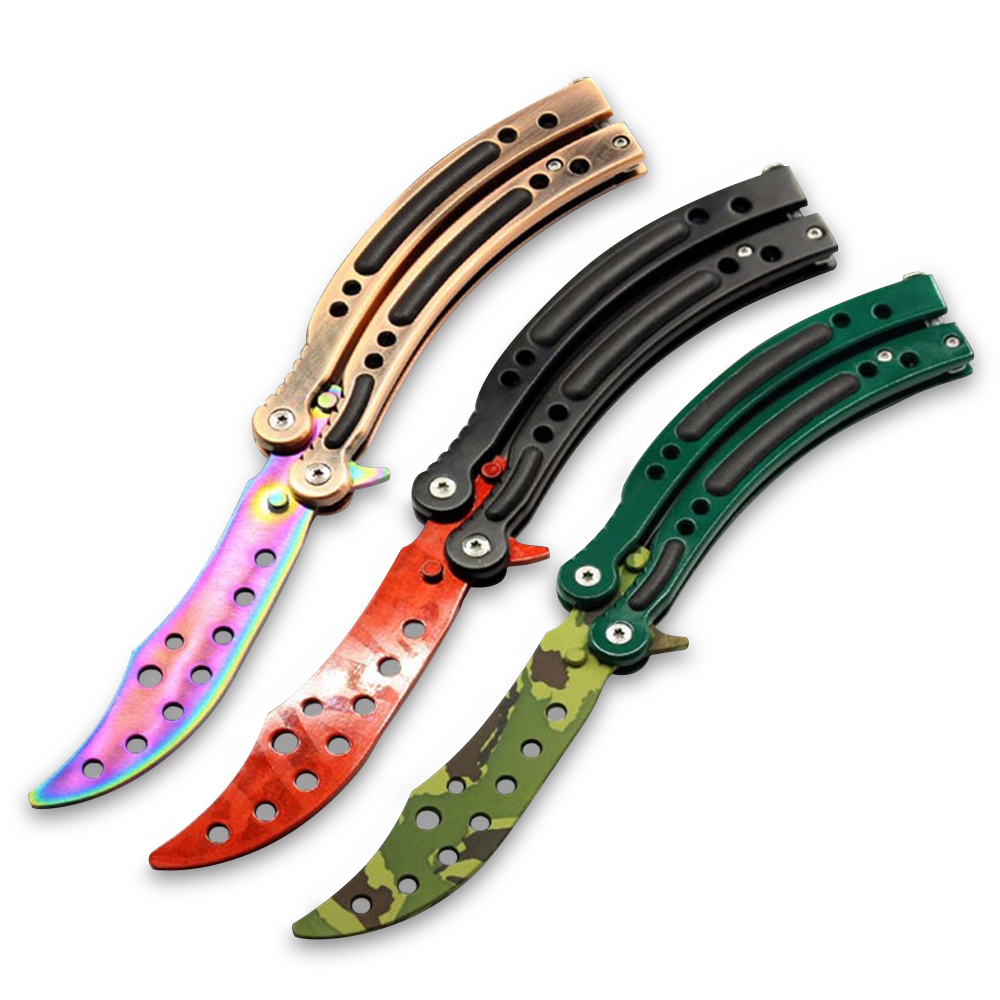 Training CS GO Game Collection Balisong Butterfly Trainer Knife Men Gift