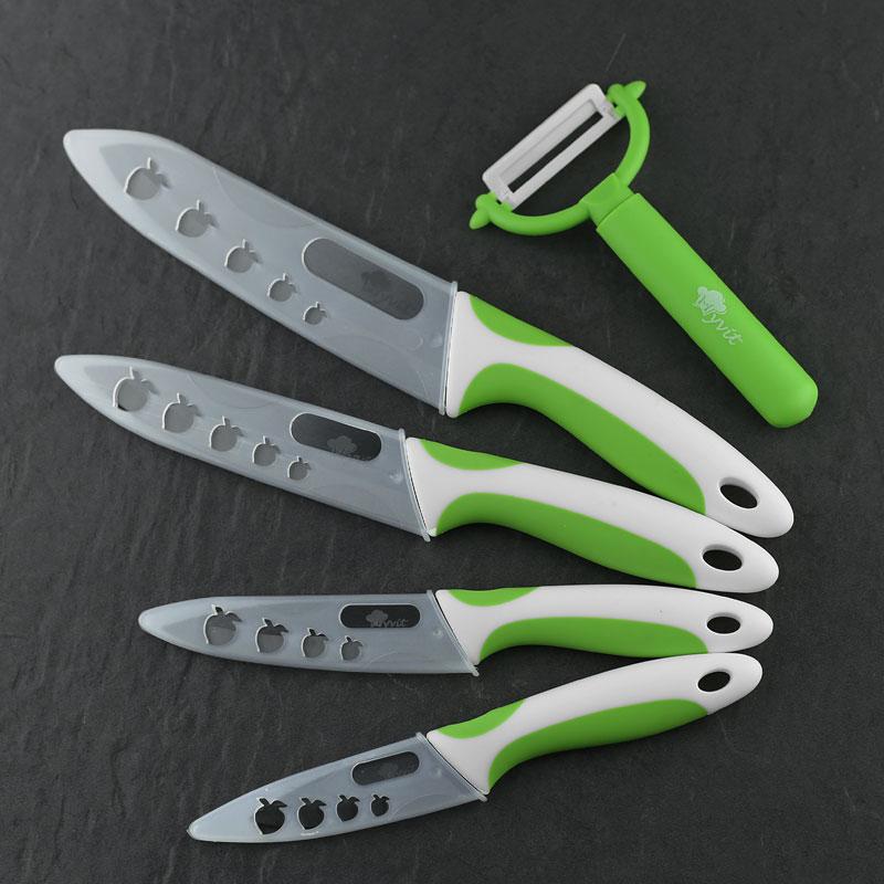 Ceramic Knife Zirconia kitchen knife cooking set 3 4 5 6 inch+ Peeler+Cove