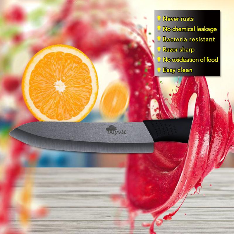 Kitchen Ceramic Knives with holder 6pcs set 3 paring 4 5 slicing 6 chef knife