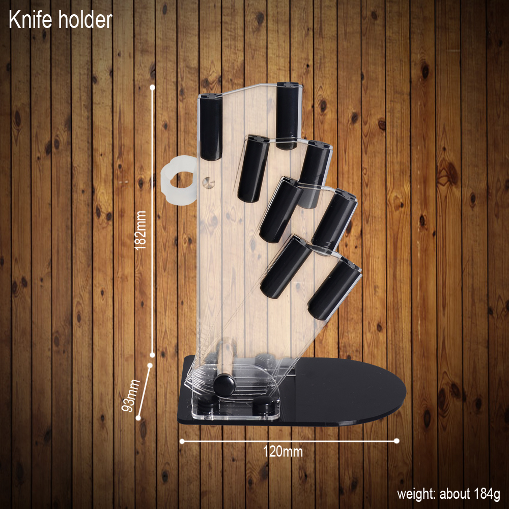 Six-Piece Set Knife Stand+ Ceramic Knives+ Peeler Kitchen Knife
