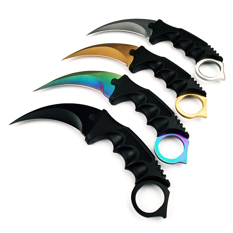 CS GO Hunting Fixed Knife Karambit Tactical Combat Survival Neck Claw Knives
