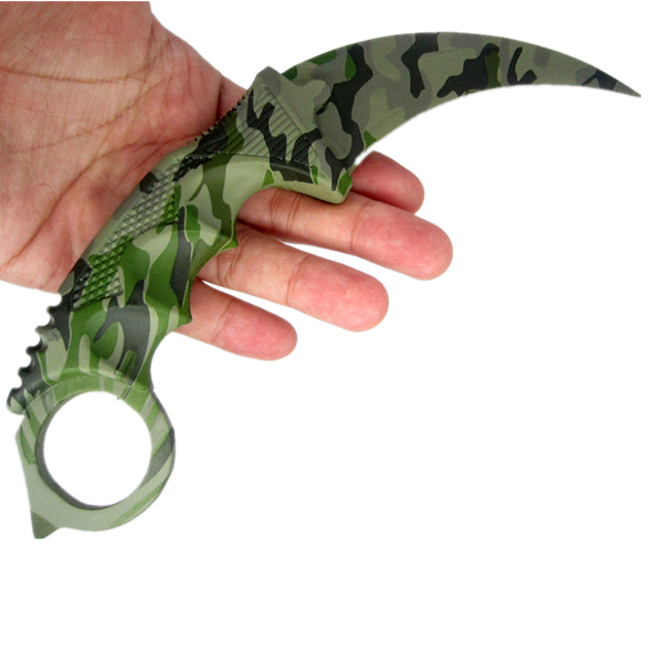 CS GO Counter Claw Karambit Neck Knife Real Combat Figh
