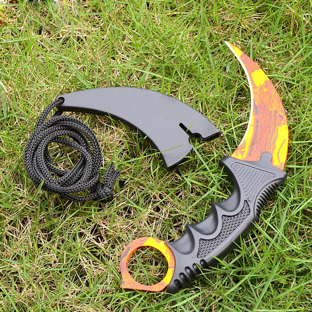 CSGO Counter Strike Karambit Orange Scenery Colorful Outdoor Knives