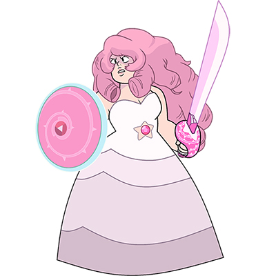 Steven Universe Rose Quartz Costume Cosplay Collection