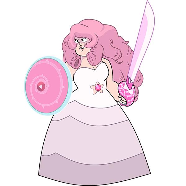 Steven Universe Rose Quartz asut Cosplay Naamiaisasut