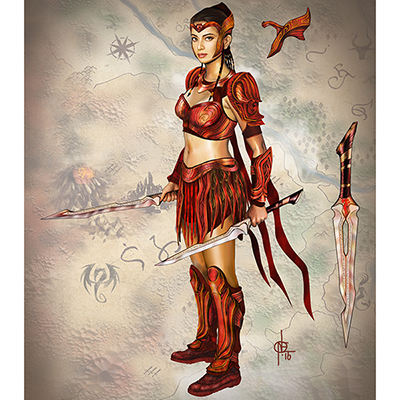 Encantadia Pirena Costume Cosplay Collection