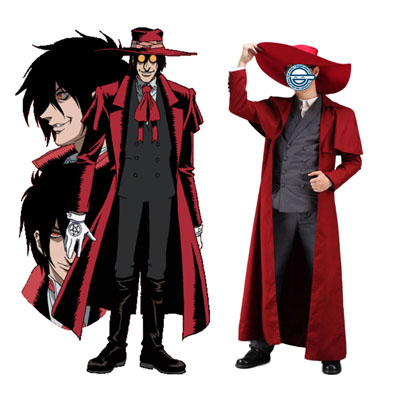 Луксозен Heellsing Alucard 1 Red Cosplay Костюми