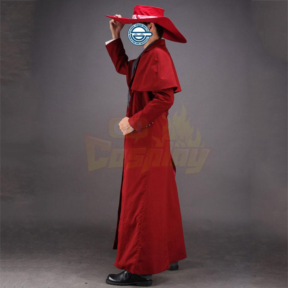 Роскошный Heellsing Alucard 1 Red Косплей Cos Костюмы