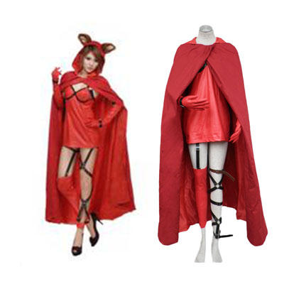 Fantasias Ludwig Kakumei Vermelho Riding Hood Lisette Long cloak Cosplay Costume