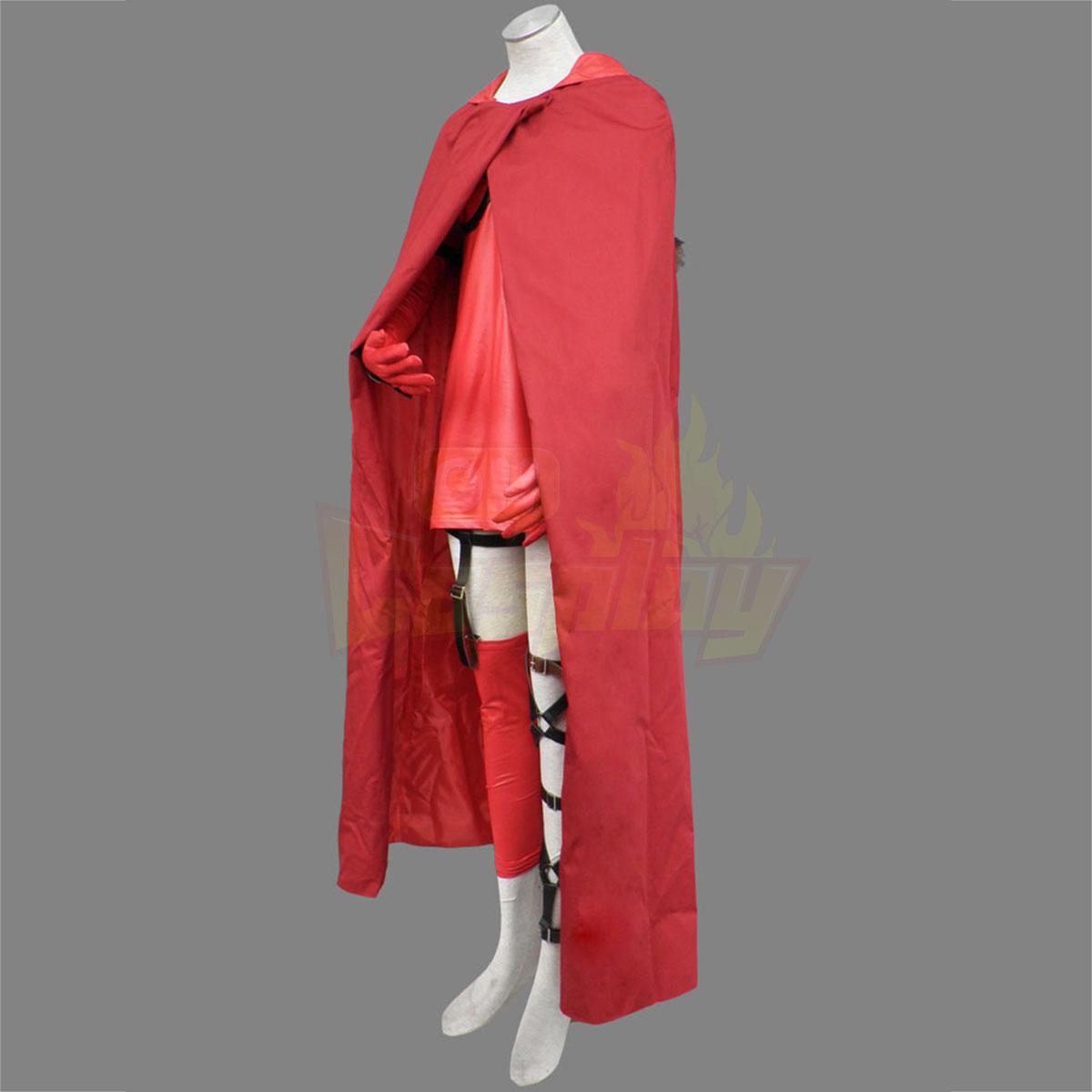 호화로운 Ludwig Kakumei 빨간 Riding Hood Lisette 긴 cloak 코스프레 의상