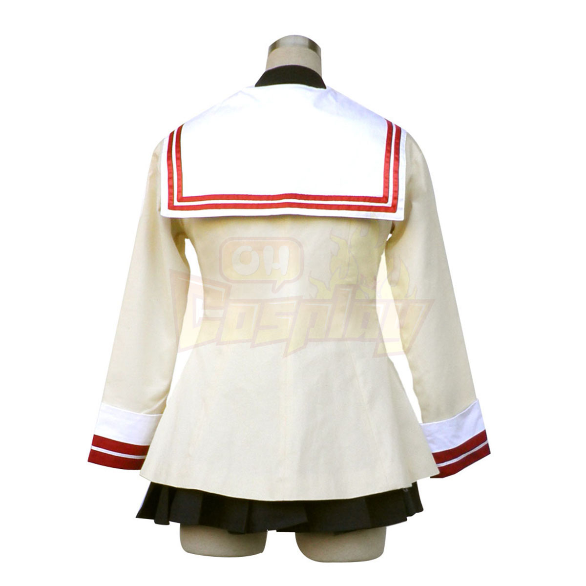 De lujo Disfraces de Clannad Ibuki Fūko 1ST High School Female Uniforme de Invierno Green Badge
