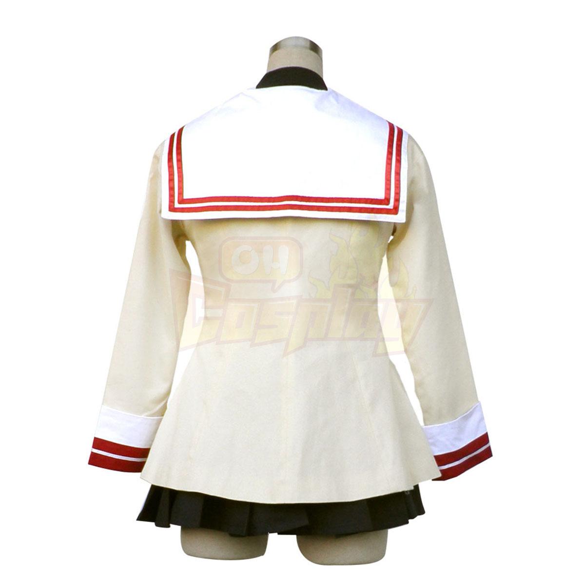 Роскошный Кланнад Tomoyo Sakagami Старшая школа Female Зима Равномерное Red Badge Костюмы