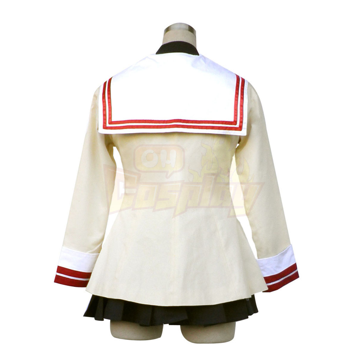 De lujo Disfraces de Clannad Nagisa Furukawa High School Female Uniforme de Invierno Blue Badge