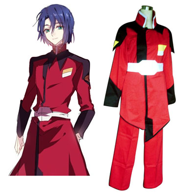 Fantasias Gundam Seed ZAFT Army Vermelho Men Military Uniform Trajes Cosplay