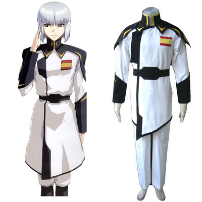 De lujo Disfraces de Gundam Seed ZAFT Army Blanco Captain Clothing Cosplay