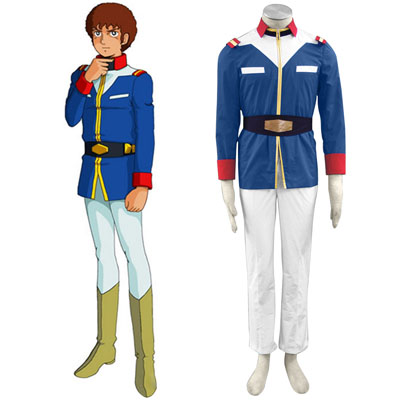 Luksuzno Gundam 0079 EFF Trainee Soldiers Moški Military Uniform Cosplay Kostumi