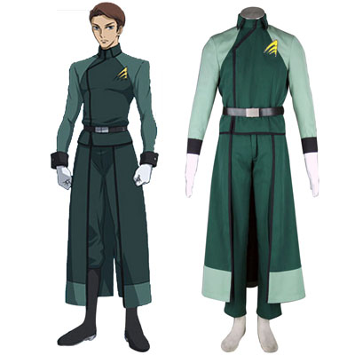 Deluxe Gundam 00-A-LAWS Férfiak Military Uniform Cosplay Jelmez